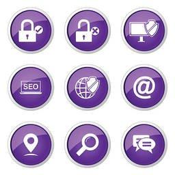 Seo Internet Sign Violet Vector Button Icon Design Set 3 Stock Vector Freeimages Com