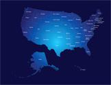 USA,Map,Unity,Cartography,V...