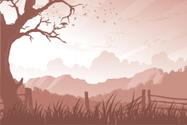 Silhouette,Tree,Mountain,Fe...