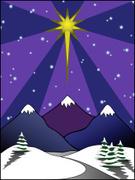 Mountain,Star - Space,Snow,...