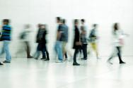 Student,Walking,People,Blur...