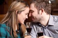 Couple,Dinner,Wine,Drinking...