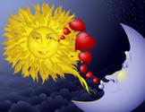 Moon,Sun,Star - Space,Heart...