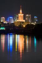 Warsaw,Poland,Night,Urban S...