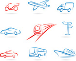 Car,Train,Symbol,Speed,Sket...