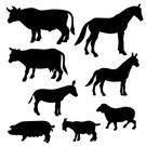 Cow,Sheep,Silhouette,Animal...