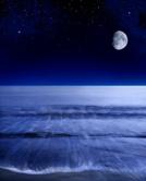 Moon,Night,Sea,Sky,Star - S...