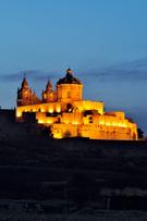 Malta,Night,Mdina,City,Hill...
