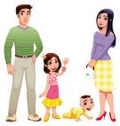 Cartoon,Family,People,Fathe...