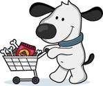 Dog,Cartoon,Shopping,Pets,S...