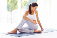 Yoga,Women,Exercising,Stret...