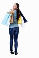 Shopping,Women,Rear View,Wh...