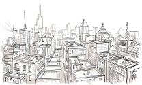 City,Sketch,Urban Scene,Dra...