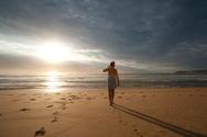 Beach,Walking,Women,Footpri...