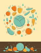 Vegetable,Organic,Symbol,Ol...