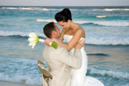 Wedding,Beach,Bride,Bridegr...