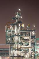 Refinery,Night,Factory,Ligh...