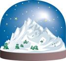 Mountain,Snow Globe,Snow,Mo...