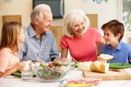 Family,Eating,Dinner,Senior...