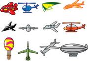 Cartoon,Balloon,Spaceship,A...