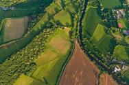 Aerial View,Farm,UK,Rural S...