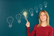 Light Bulb,Ideas,Blackboard...