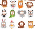 Dog,Cartoon,Panda,Cow,Undom...
