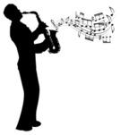 Jazz,Saxophone,Silhouette,M...