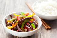 Beef,Stir-Fried,White,Chili...