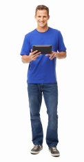 Men,Digital Tablet,People,H...