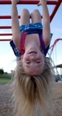 Playground,Child,Upside Dow...