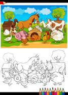 Coloring,Page,Livestock,Ilu...
