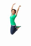 Jumping,Women,African Desce...