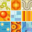 Pattern,1940-1980 Retro-Sty...
