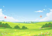 Springtime,Field,Sky,Grass,...