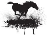 Mustang,Horse,Running,Silho...