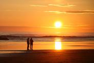 Sunset,Beach,Couple,People,...