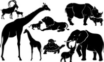 Silhouette,Lion - Feline,El...