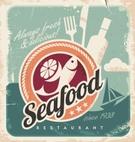 Sign,Restaurant,Seafood,Old...