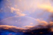 Rainbow,Sky,Sunset,Multi Co...