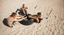 Beach,Exercising,Women,Outd...