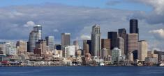 Seattle,Panoramic,Urban Sky...