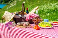 Picnic,Mountain,Basket,Food...