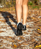 Human Foot,Autumn,Park - Ma...