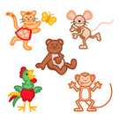 Monkey,Mouse,Animal,Butterf...