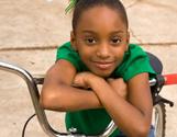 Child,Black Color,Little Gi...