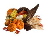 Cornucopia,Autumn,Crop,Isol...