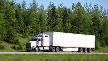 Semi-Truck,Truck,White,Fron...
