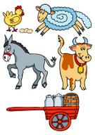Donkey,Cart,Bull - Animal,C...