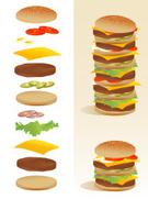 Burger,Hamburger,Cheeseburg...